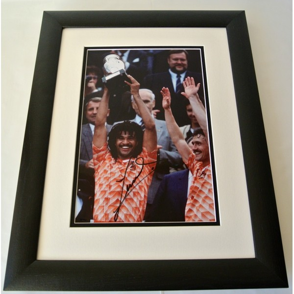 Ruud Gullit SIGNED FRAMED Photo Autograph 16x12 Huge display Holland PROOF COA  PERFECT GIFT