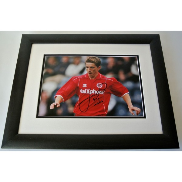Juninho SIGNED FRAMED Photo Autograph 16x12 Huge display Middlesbrough & COA  PERFECT GIFT