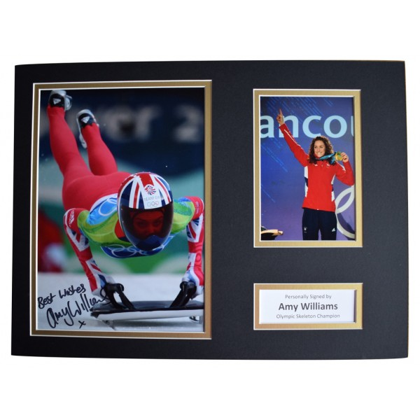 Amy Williams SIGNED autograph 16x12 photo display Olympic Skeleton  AFTAL  COA Memorabilia PERFECT GIFT