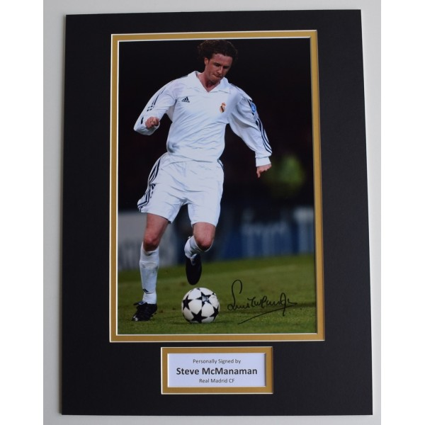 Steve McManaman SIGNED autograph 16x12 photo display Real Madrid Football COA AFTAL MEMORABILIA