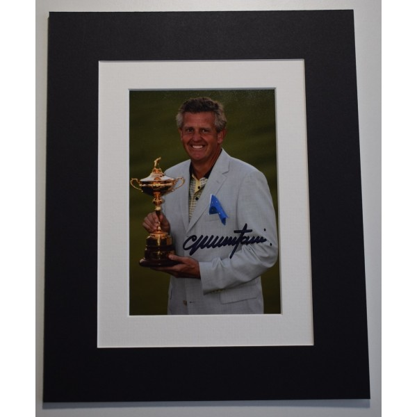 Colin Montgomerie Signed Autograph 10x8 photo mount display Golf Sport    AFTAL &  COA Memorabilia PERFECT GIFT