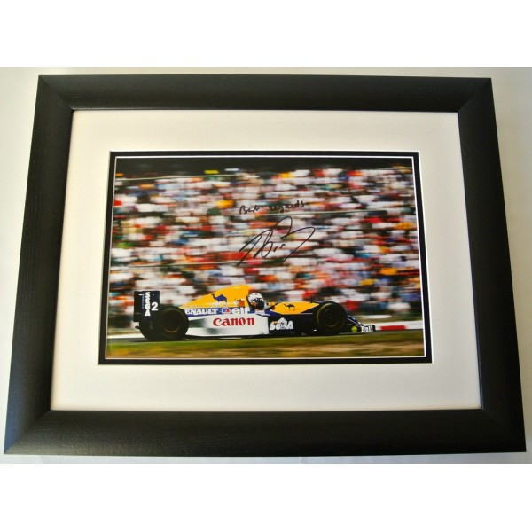 Alain Prost SIGNED FRAMED Photo Autograph 16x12 Huge display Formula 1 & COA      PERFECT GIFT