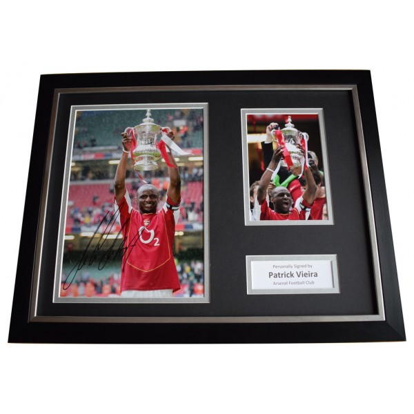 Patrick Vieira Signed FRAMED Photo Autograph 16x12 display Arsenal Football  AFTAL  COA Memorabilia PERFECT GIFT