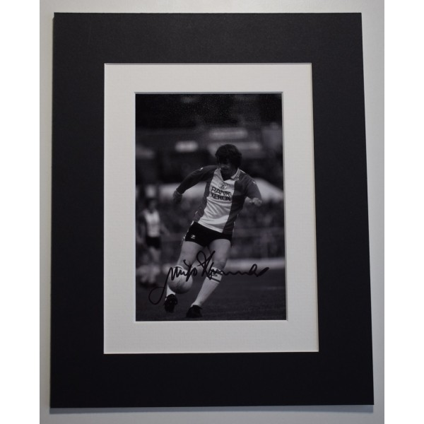 Mick Channon Signed Autograph 10x8 photo display Southampton Football  AFTAL &  COA Memorabilia PERFECT GIFT