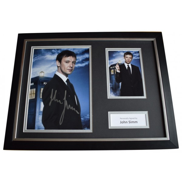 John Simm Signed FRAMED Photo Autograph 16x12 display Doctor Who TV   AFTAL  COA Memorabilia PERFECT GIFT
