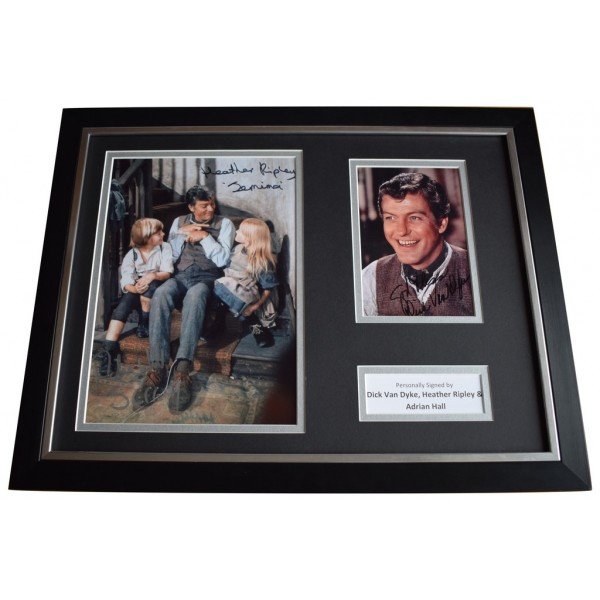 Dick Van Dyke Adrian Hall & Ripley Signed FRAMED Photo Autograph 16x12 display   AFTAL  COA Memorabilia PERFECT GIFT