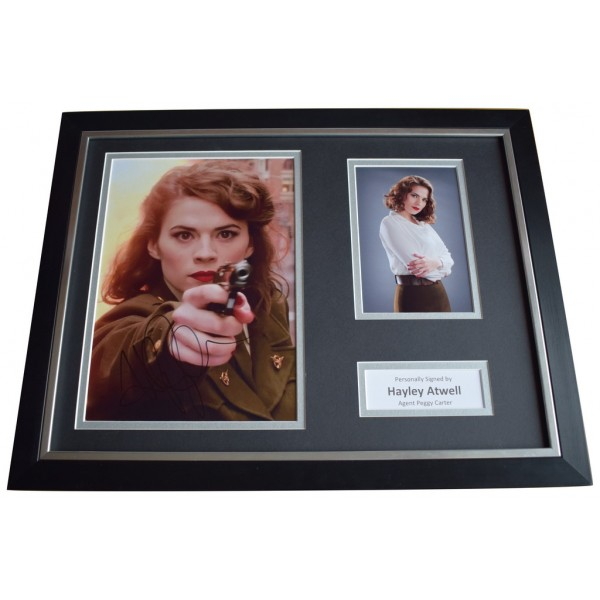 Hayley Atwell Signed FRAMED Photo Autograph 16x12 display Captain America Film  AFTAL  COA Memorabilia PERFECT GIFT