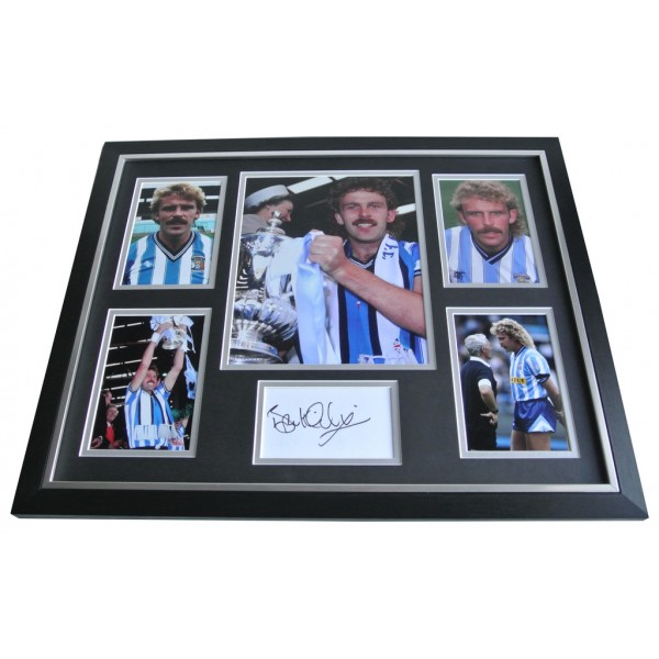 Brian Kilcline SIGNED FRAMED Photo Autograph Huge display Coventry City PROOF AFTAL & COA Memorabilia PERFECT GIFT