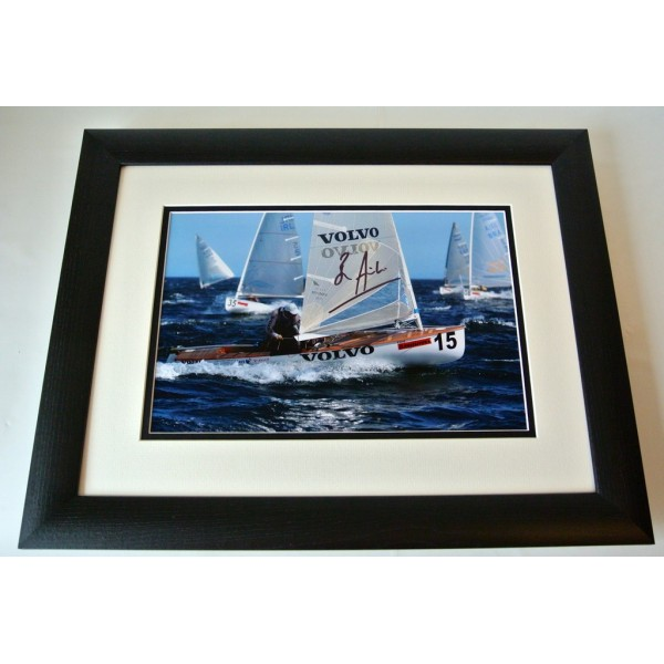Ben Ainslie SIGNED FRAMED Photo Autograph 16x12 Huge display Olympic Sailing COA    PERFECT GIFT