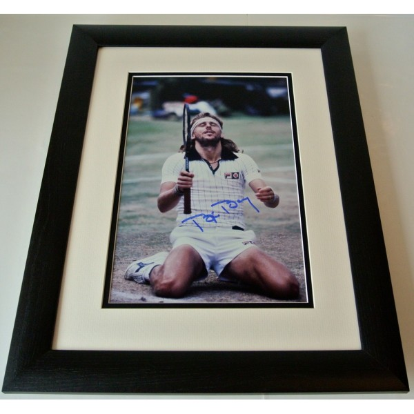 Bjorn Borg SIGNED FRAMED Photo Mount Autograph 16x12 Huge display Tennis & COA   PERFECT GIFT