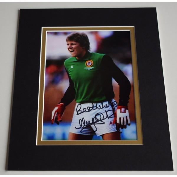 Nigel Spink Signed Autograph 10x8 photo display Aston Villa football    AFTAL & COA Memorabilia