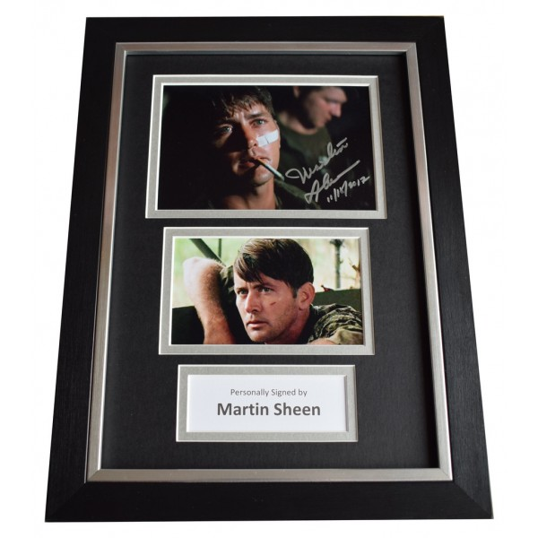 Martin Sheen Signed A4 FRAMED Autograph Photo Display Apocalypse Now AFTAL  COA Memorabilia PERFECT GIFT