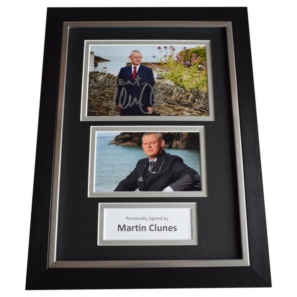 Martin Clunes Signed A4 FRAMED Autograph Photo Display Doc Martin   AFTAL  COA Memorabilia PERFECT GIFT