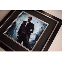 Aaron Eckhart SIGNED Framed LARGE Square Photo Autograph display Dark Knight AFTAL &  COA Memorabilia PERFECT GIFT