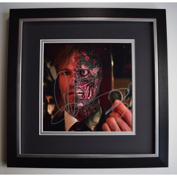 Aaron Eckhart SIGNED Framed LARGE Square Photo Autograph display Dark Knight AFTAL &  COA Memorabilia PERFECT GIFT
