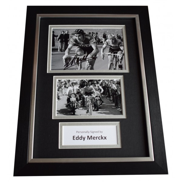 Eddy Merckx Signed A4 FRAMED Autograph Photo Display Cycling Sport AFTAL  COA Memorabilia PERFECT GIFT