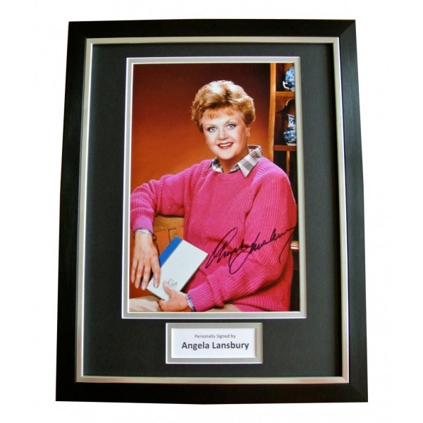 ANGELA LANSBURY SIGNED & FRAMED AUTOGRAPH PHOTO MOUNT DISPLAY ACTOR GIFT & COA       PERFECT GIFT