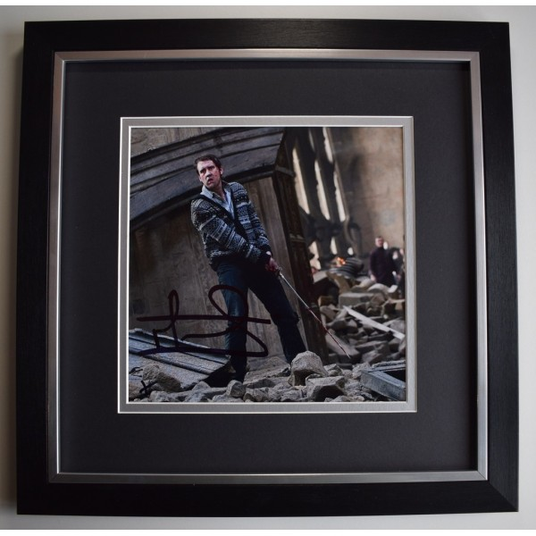 Matthew Lewis SIGNED Framed LARGE Square Photo Autograph display Harry Potter  AFTAL &  COA Memorabilia PERFECT GIFT