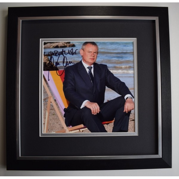 Martin Clunes SIGNED Framed LARGE Square Photo Autograph display Doc Martin  AFTAL &  COA Memorabilia PERFECT GIFT