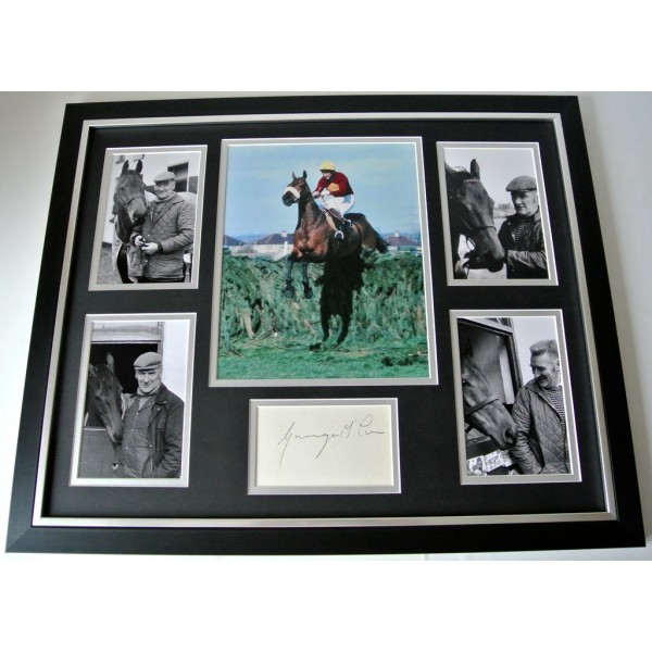 Ginger McCain SIGNED FRAMED Huge Photo Autograph display Red Rum Trainer & COA  PERFECT GIFT
