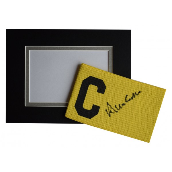 Allan Clarke Signed Captains Armband & free mount display Leeds United   AFTAL  COA Memorabilia PERFECT GIFT