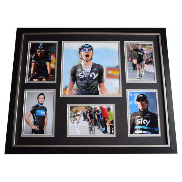 Geraint Thomas SIGNED Framed Photo Autograph Huge display Cycling Sport  AFTAL  COA Memorabilia PERFECT GIFT