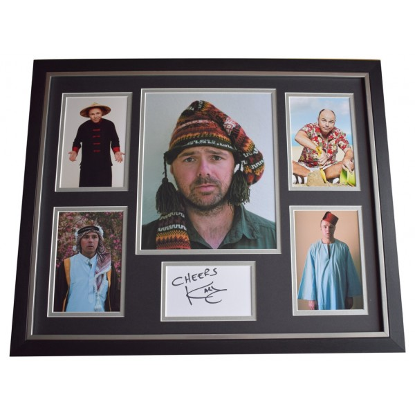 Karl Pilkington SIGNED Framed Photo Autograph Huge display Idiot Abroad  AFTAL  COA Memorabilia PERFECT GIFT