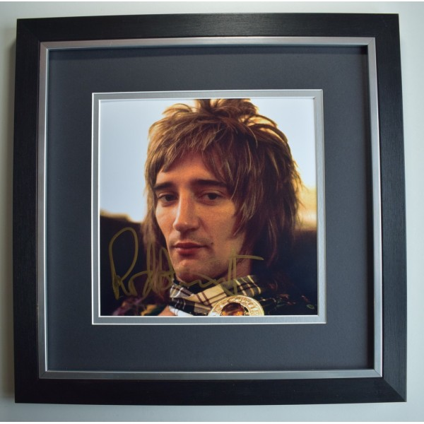 Rod Stewart SIGNED Framed LARGE Square Photo Autograph display Music   AFTAL &  COA Memorabilia PERFECT GIFT