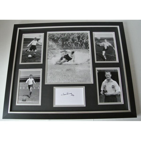 Tom Finney SIGNED FRAMED Huge Photo Autograph display PNE Preston North End COA    PERFECT GIFT