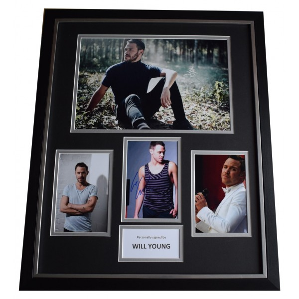 Will Young SIGNED Framed Photo Autograph Huge display Music   AFTAL  COA Memorabilia PERFECT GIFT