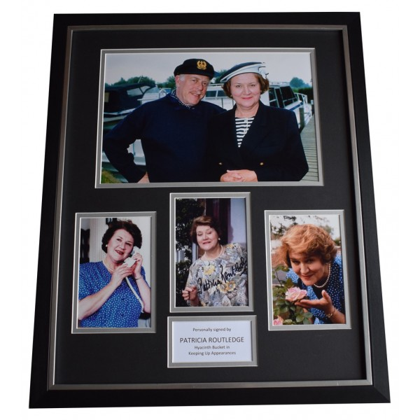 Patricia Routledge SIGNED Framed Photo Autograph Huge display TV  AFTAL  COA Memorabilia PERFECT GIFT