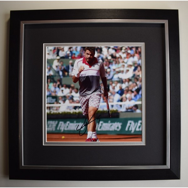 Stanislas Wawrinka SIGNED Framed LARGE Square Photo Autograph display Tennis  AFTAL &  COA Memorabilia PERFECT GIFT