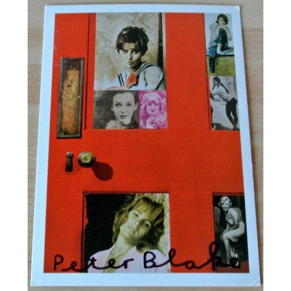 Peter Blake Signed Autograph Official Postcard GIRLIE DOOR CCA Galleries    AFTAL & COA Memorabilia