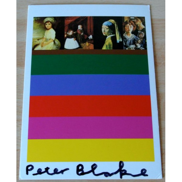 Peter Blake Signed Autograph Official Postcard FINE ART BITS Galleries AFTAL & COA Memorabilia
