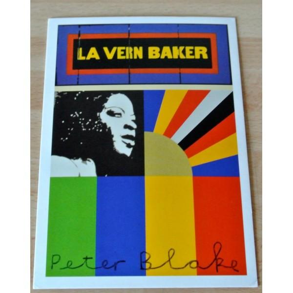 Peter Blake Signed Autograph Official Postcard LA VERN BAKER ART AFTAL & COA Memorabilia