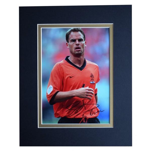 Frank de Boer Signed Autograph 10x8 photo display Holland Football AFTAL  COA Memorabilia PERFECT GIFT
