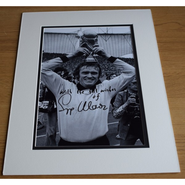 Sepp Maier SIGNED autograph 16x12 LARGE photo display Germany Football  AFTAL & COA Memorabilia