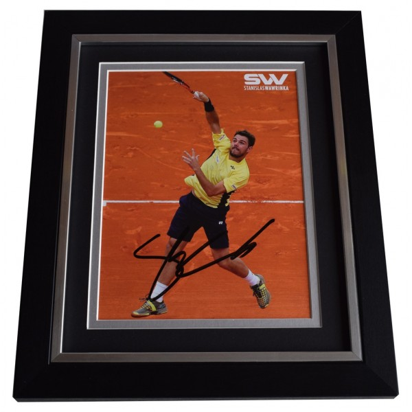 Stanislas Wawrinka SIGNED 10X8 FRAMED Photo Autograph Tennis Display   AFTAL & COA Memorabilia PERFECT GIFT