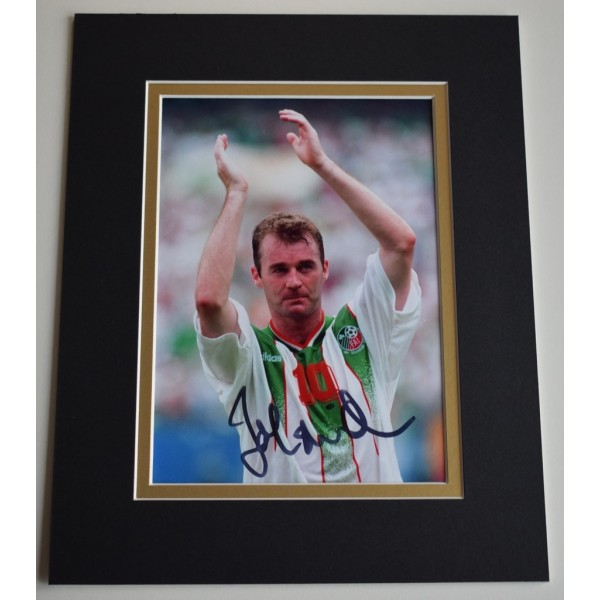 John Sheridan Signed Autograph 10x8 photo display Ireland football   AFTAL &  COA Memorabilia PERFECT GIFT