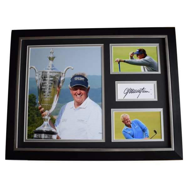 Colin Montgomerie SIGNED FRAMED Photo Autograph 16x12 display Golf Sport AFTAL  COA Memorabilia PERFECT GIFT