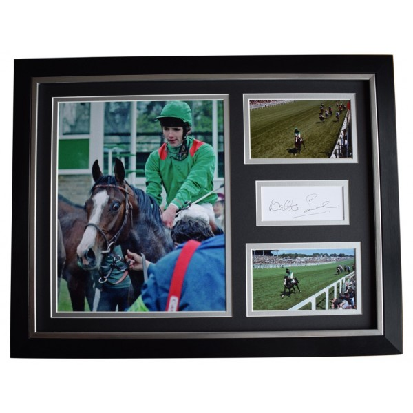 Walter Swinburn SIGNED FRAMED Photo Autograph 16x12 display Horse Racing AFTAL  COA Memorabilia PERFECT GIFT