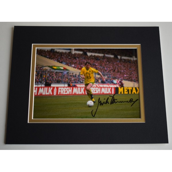 Mick Channon Signed Autograph 10x8 photo display Norwich City Football  AFTAL &  COA Memorabilia PERFECT GIFT
