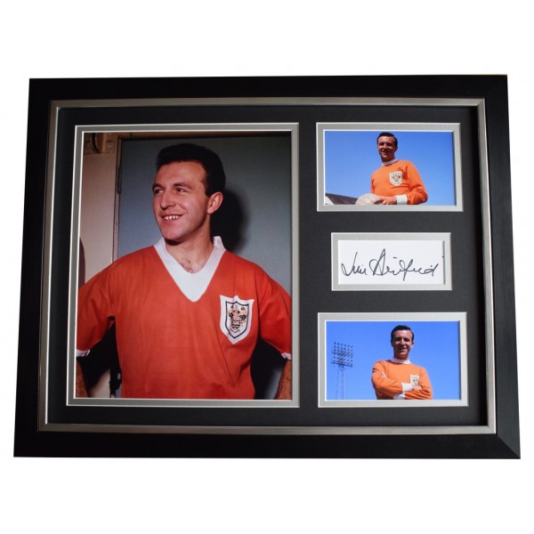 Jimmy Armfield SIGNED FRAMED Photo Autograph 16x12 display Blackpool  AFTAL  COA Memorabilia PERFECT GIFT