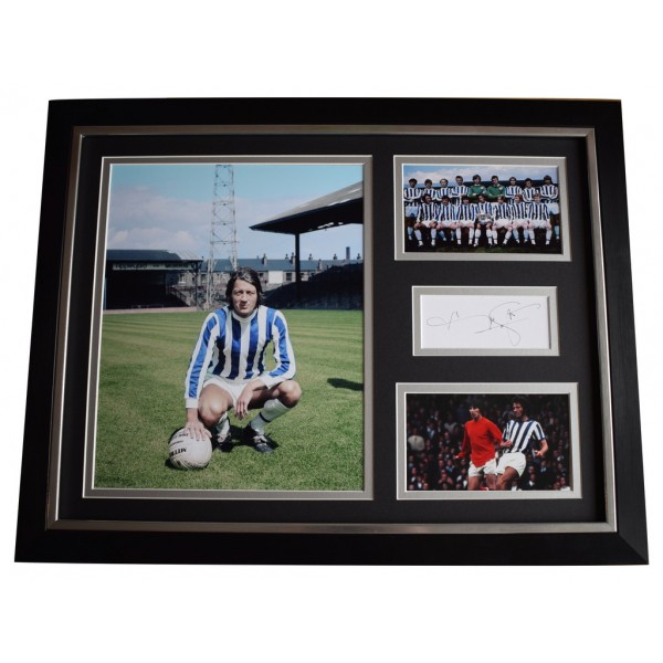 Frank Worthington SIGNED FRAMED Photo Autograph 16x12 display Huddersfield   AFTAL  COA Memorabilia PERFECT GIFT