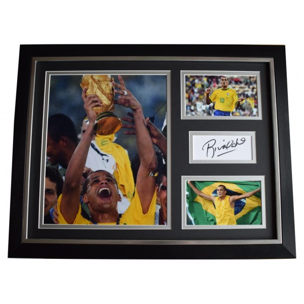 Rivaldo SIGNED FRAMED Photo Autograph 16x12 display Brazil Football  AFTAL  COA Memorabilia PERFECT GIFT