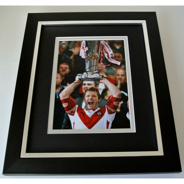 Sean Long SIGNED 10x8 FRAMED Photo Autograph Display St Helens Rugby League COA  PERFECT GIFT