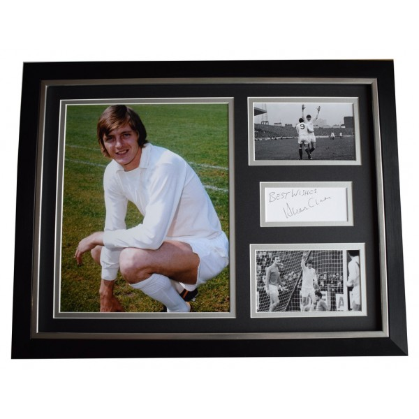 Allan Clarke SIGNED FRAMED Photo Autograph 16x12 display Leeds United AFTAL  COA Memorabilia PERFECT GIFT
