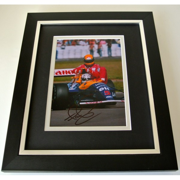 Nigel Mansell SIGNED 10x8 FRAMED Photo Autograph Display Formula 1 Sport & COA  PERFECT GIFT