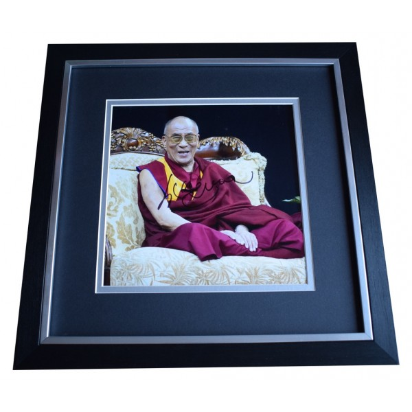 Dalai Lama SIGNED Framed LARGE Square Photo Autograph Tenzin Gyatzo  AFTAL  COA Memorabilia PERFECT GIFT