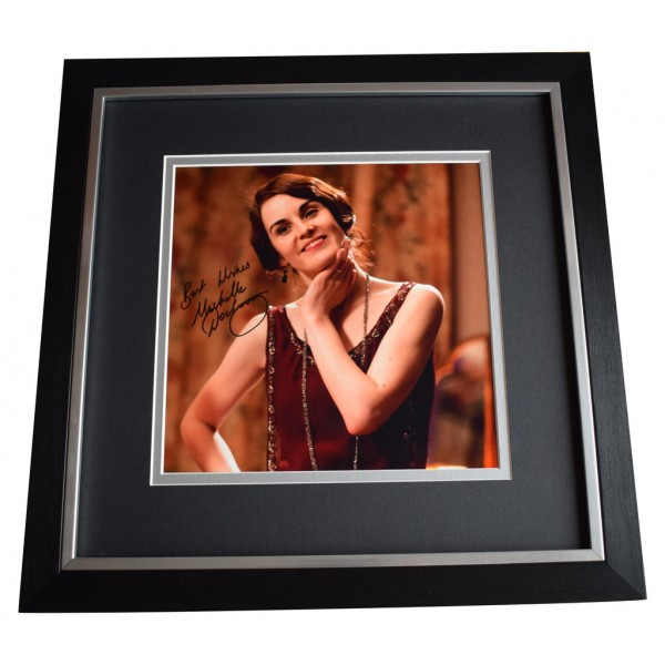 Michelle Dockery SIGNED Framed LARGE Square Photo Autograph Downton Abbey AFTAL  COA Memorabilia PERFECT GIFT